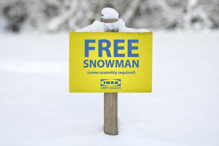 Free Snowman - Ikea