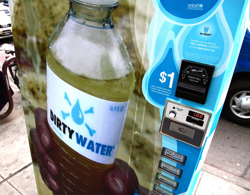 Dirty Water Vending Machine - Unicef